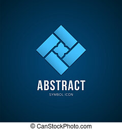 Begreb, Abstrakt, Eller, Vektor, Skabelon,  logo,  symbol, ikon