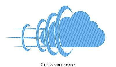 begreb, eps10, baggrund., vektor, hvid sky