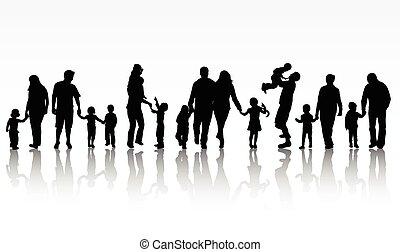 begreb, familie, illustration