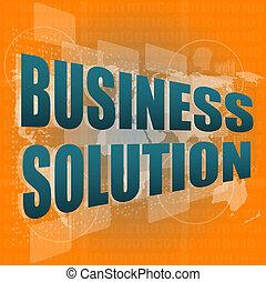 begreb, firma, løsning, skærm, gloser, digitale