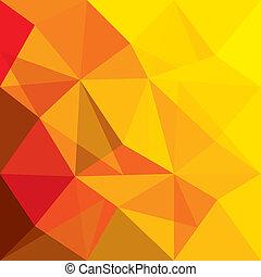 begreb, forme, appelsin, vektor, baggrund, geometriske, rød