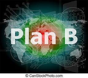 begreb, glose, firma, skærm, b, plan, digitale