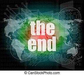 begreb, glose, firma, skærm, digitale, berøring, slutning