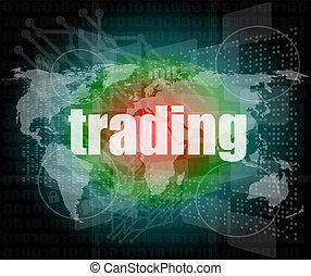 begreb, glose, kommunikation, globale, skærm, handlende,...