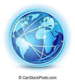 begreb, kommunikation, globale
