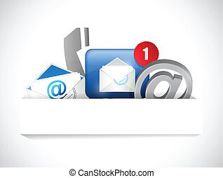 begreb, kommunikation, os, kontakt, lomme, avis