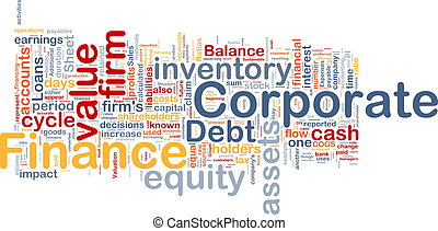 begreb, korporativ finan, baggrund