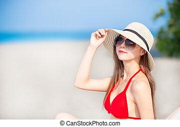 begreb, sunblock, sommer