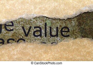 begreb, værdi
