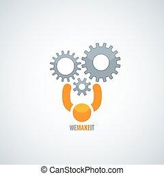 begreb, vektor, teamwork, baggrund