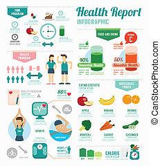 begreb, wellness, infographic, konstruktion, skabelon,...