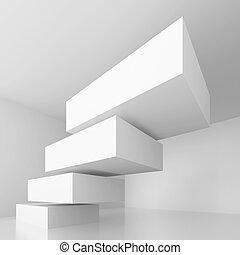 begrebsmæssig, arkitektur, konstruktion