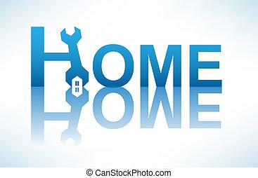 begrebsmæssig, hjem, image, repair.