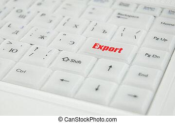 begrebsmæssig, indskrift, klaviatur