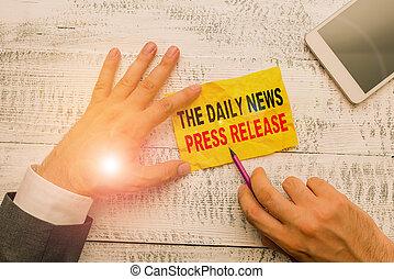 begrebsmæssig, tal, fotografi, stor, viser, release., tekst, nyhed, eller, presse, kungør, tegn, daglige, showing.