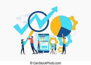 begrepp, affär, framgång, mobil, app, teamwork