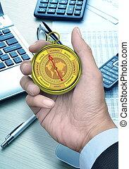 begrepp, affär, kompass