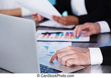 begrepp, affär,  person,  Teamwork, tillsammans, lag, arbeten