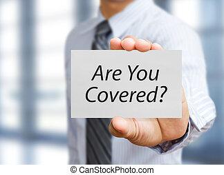 begrepp, affär, tidning planka, holdingen, försäkring, man