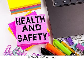 begrepp, affärskontor, utrymme, markör, text, visande, avskrift, skrift, omgivning, konstruktion, säkerhet, gjord, bakgrund, sådan, pen., hälsa, vit, laptop, medvetenhet