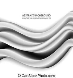 begrepp, av, abstrakt, silver, våg, bakgrund, design.