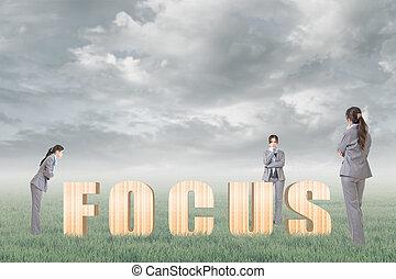 begrepp, av, fokusera