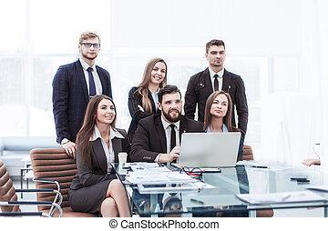 begrepp, av, teamwork, -, a, framgångsrik, affärsverksamhet lag, in, den, workplace, in, kontoren