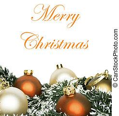 begrepp, bakgrund, färgrik, isolerat, agremanger, vit, jul