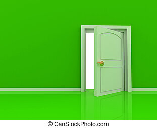 begrepp, dörr