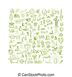 begrepp, design, bakgrund, kurort, din, massera