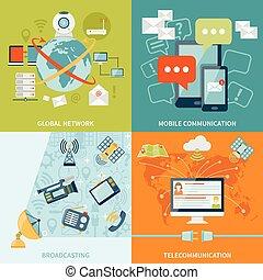 begrepp, design, telekommunikation, 2x2
