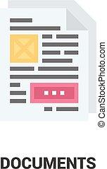 begrepp, dokument, ikon