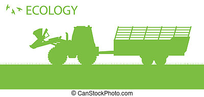 begrepp, ekologi, organisk, vektor, bakgrund, jordbruk, ...