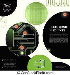 begrepp, elektronisk, färgrik, teknologisk