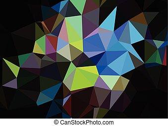 begrepp, färgrik, abstrakt, polygonal, mode, bakgrund, stilig, trianglar