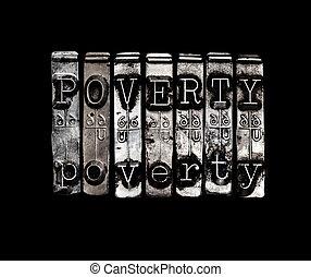 begrepp, fattigdom