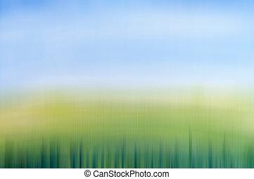 begrepp, fjäder, design, vattenfärg, fält