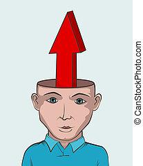 begrepp, framgång, skapande, arrow., grafik formge