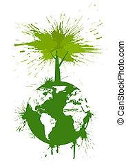 begrepp, grön