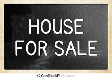 begrepp, hus, försäljning
