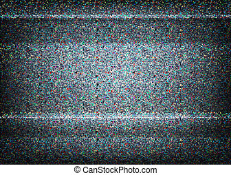 begrepp, illustration., nej, tv, signal, scalable, vector., ...