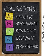 begrepp, inställning, smart, mål