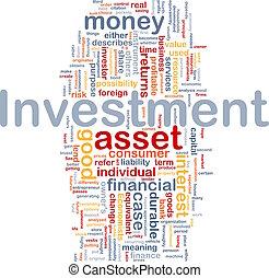begrepp, investering, bakgrund