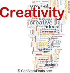 begrepp, kreativitet, bakgrund, skapande