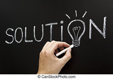 begrepp, lösning, hand, teckning