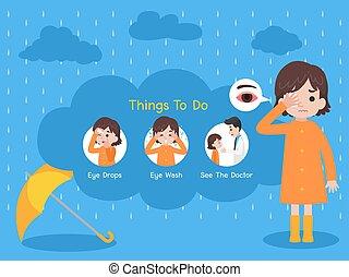 begrepp, medicinsk, regna, hälsa, sjuk, omsorg