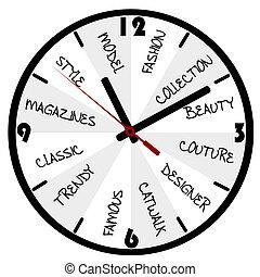 begrepp, mode, klocka