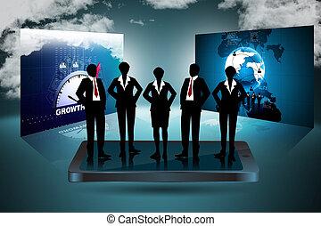 begrepp, nätverksarbetande, social