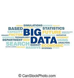 begrepp, ord, stor, etikett, data, moln