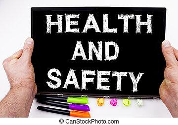 begrepp, penna, affärskontor, utrymme, text, konstruktion, kompress, markör, fana, stationery., skriftligt, dator, säkerhet, bakgrund, hälsa, vit, avskrift, medvetenhet